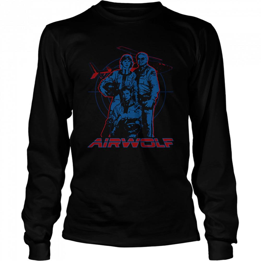 Cast Airwolf T- Long Sleeved T-shirt