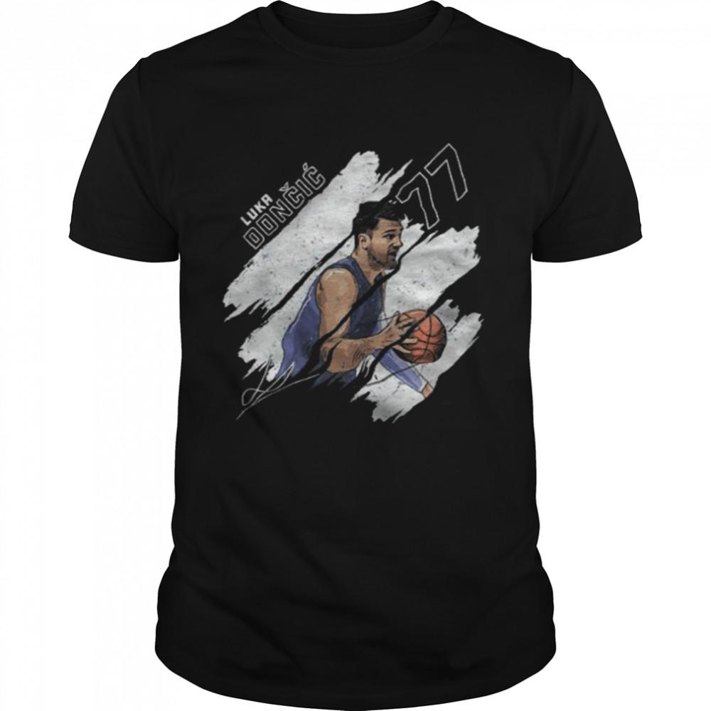 Luka Doncic Stripes Dallas Basketball signature Shirt